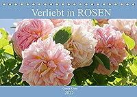 Verliebt in Rosen (Tischkalender 2022 DIN A5 quer): Wunderschoenen Rosen in ihre Gesichter geschaut (Monatskalender, 14 Seiten )