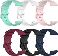 TenCloud 6-Pack Bands Compatible with Garmin Venu SQ 20mm Wrist Strap Quick Release Waterproof Soft Silicone Band for Venu...