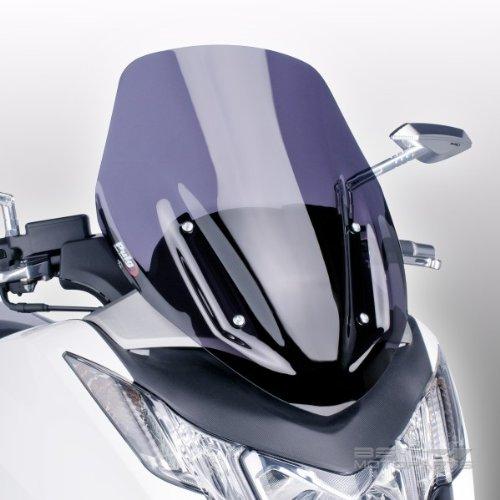 Puig 6283F Windschutzscheibe Cockpitverkleidung Sport für Maxiscooter Honda Integra 2012-2015, Integra 750 2014-2015, Dunkel getönt, Medium