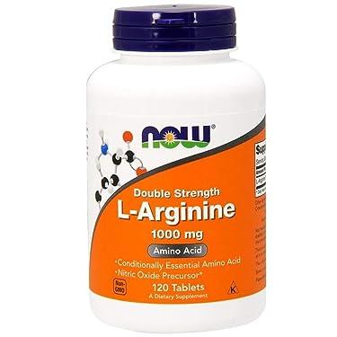 Now Foods Arginine 1000mg, 120 tabs (Pack of 2)