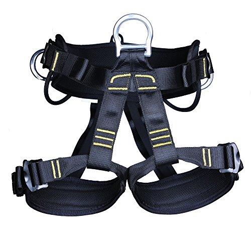 Yundxi Klettergurt - Erwachsene Baumpfleger Bergsteigen Klettern Sicherheitsgurt, Fallschutz Sitzgur t/stark und robust, Komfort Design Gürtel