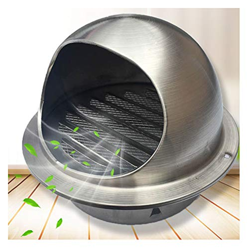 New LTLSF 304 Stainless Steel Wall-Mountable Brushed Round Bull-Nose Vent with Louvres Indoor & Outd...