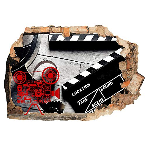 Video Film Camera Movie Cool Wall Stickers Bedroom 3D Kids Room Vinyl Stickers Living Room