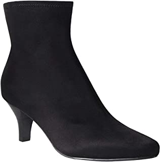 Womens Neil Pointed Toe Ankle Fashion Boots, Black, Size 6.0