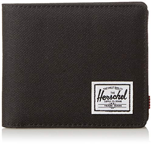 Herschel Unisex-Erwachsene Roy + Coin XL RFID Zweifalten-Geldbörse, schwarz, X-Large