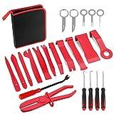 Fanuse 22Pack Trim Removal Tool Set Clip Clip Alicate TapiceríA Removal Car Panel Removal Set con Bolsa de Almacenamiento PortáTil