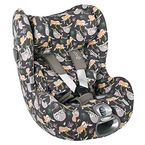 Cybex Sirona Z - Funda para portabebés gris perezoso, ajuste perfecto, algodón Öko-Tex, absorbe el sudor y suave para tu bebé