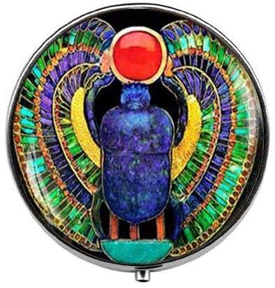 Pastillero Escarabajo Egipcio Escarabajo Egipcio Pastillero Caja de Cristal