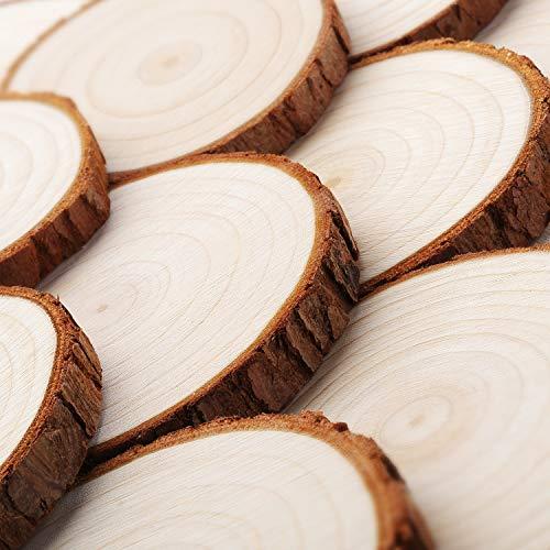 Holzscheiben ohne Loch | 30 Stück