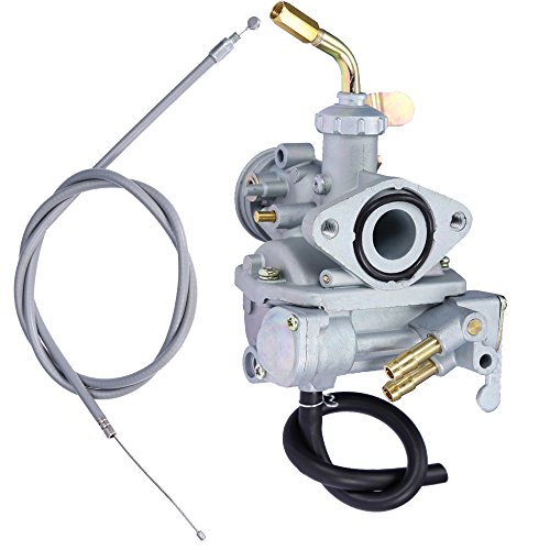 QKPARTS Carburetor Carb with Throttle Cable Replacement for Honda CT70 CT70H 1969-1977 New