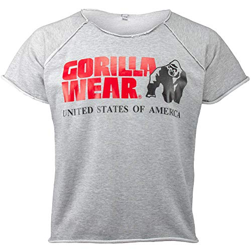 GORILLA WEAR Classic Work Out Top für Bodybuilder - Strongman und Fitness Grau XXL/XXXL