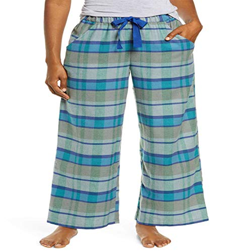 Hhckhxww Spring and Autumn Plaid Drawstring Loose Casual Home Pants Comfortable Breathable Pajama Pants Women Blue