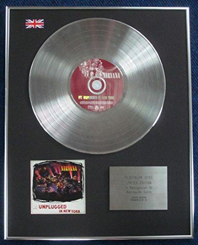 Nirvana–Limited Edition CD Platinum LP Disc–Unplugged