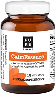Calm Essence by Pure Essence - Natural Sleep Aid and Anti Stress Supplement- 15 Vegetarian Capsules