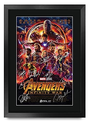 HWC Trading Avengers Infinity War A3 ingelijst gesigneerd gedrukte autogrammen afbeelding druk-fotoweergave cadeau voor…