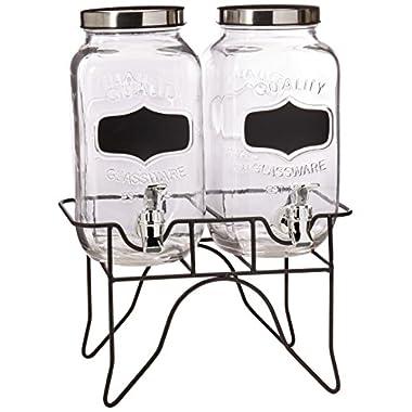 Style Setter Blackboard Beverage Dispenser Set with Stand
