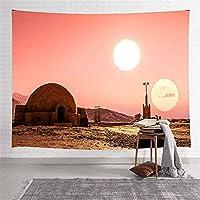 2つの太陽のタペストリー月のスペースのタペストリー寝室のリビングルームのアパートの寮の家の装飾の壁の背景のためにぶら下がっている壁 100cm x 150cm