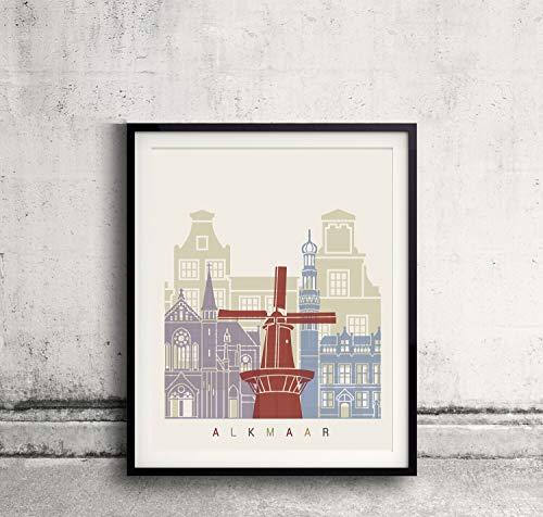 Alkmaar skyline poster Papel Mate 240gr 24x30 Inches