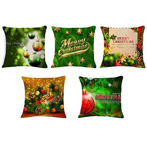 Desun 5Confezioni Happy Halloween Piazza federe 45,7x 45,7cm di Natale Decorativo Cuscino Copertura