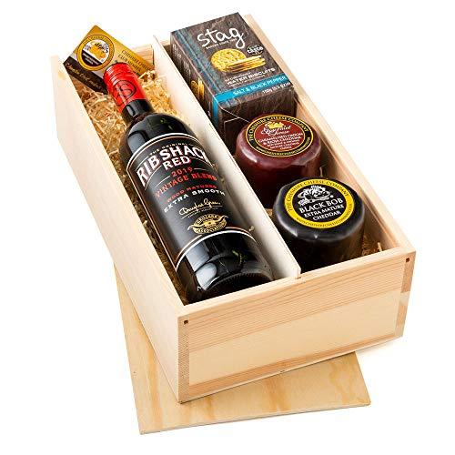 Duo aus Käse und Wein Geschenkbox - Die perfekte Nacht in