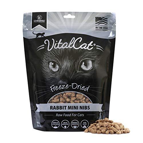Vital Cat Freeze-Dried Rabbit Mini Nibs Grain Free Limited Ingredient Cat Food