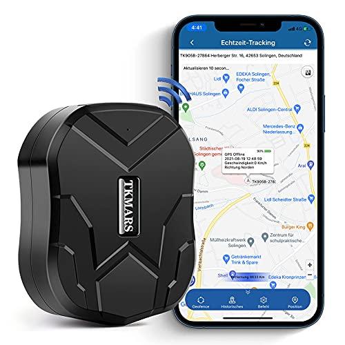 GPS Tracker,GPS Tracker per Auto Forte Magnetismo, Localizzatore GPS TK905B 10000mAh,150 Giorni,IP65,GPS Auto con Antifurto Gratuito APP per Android iOS