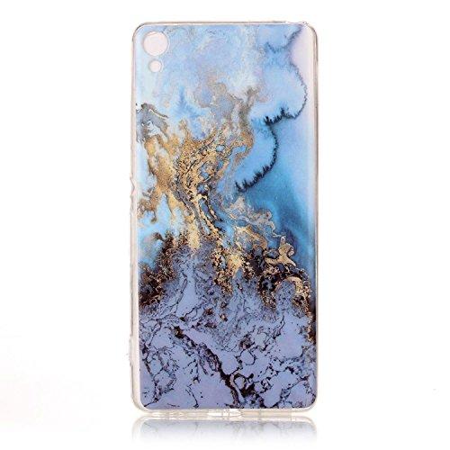 Lomogo Sony Xperia XA Hülle Silikon Marmor, Schutzhülle mit Marmormuster Stoßfest Kratzfest Handyhülle Case für Sony Xperia XA - YIHU24207#6