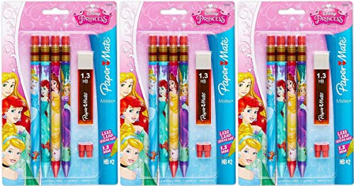 Paper Mate Mates Disney Princess Mechanical Pencil, 4-Pack (1928096) Set of 3 Packages - 12 Pencils