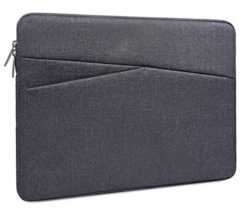 Wasserdichte Laptophülle für Acer Aspire E15, Acer Chromebook 15, Dell Samsung, Toshiba, HP, Asus, und andere 38,1 cm (15,6 Zoll) Chromebook Laptops grau grau 13-13.3 Inch
