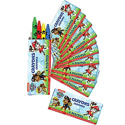 Paw Patrol 4 Pack Crayons / Favors (12ct)