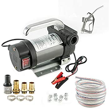 Electric 12V Fuel Transfer Pump Kit  With Nozzle+Hose  30 feet Conveying Distance with 20 feet Tube DIY is Avaliable