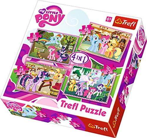 TREFL 34153 - Lote de 4 puzles (35, 48, 54 y 70 Piezas), diseño de Mi pequeño Pony