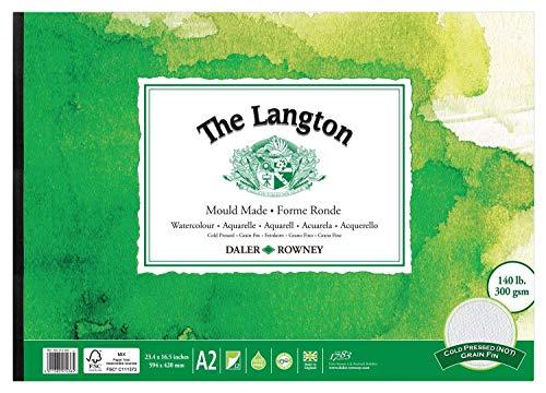 Daler-Rowney Langton - Papel para acuarela A2 (12 unidades)
