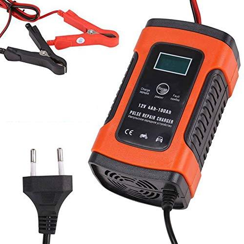 CLII Autobatterie-Ladegerät, Fully Intelligent Convenient Universal-Pulse Reparateur mit LCD-Anzeige, Geeignet für Auto SUV