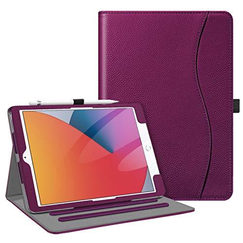 Fintie iPad 8 ケース 2020 iPad 10.2 ケース 第7世代 2019 保護カバー 2つ折スタンド マルチ視角 オートスリープ機能付き 傷つけ防止 PU合成レザー iPad 10.2インチ(2020/2019) (モデル番号A2197、A2198、 A2200)(パープル)