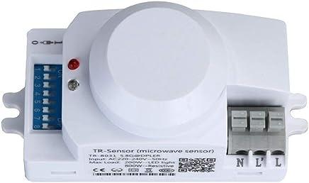 QUICKLYLY-Interruptor del sensor del detector de movimiento del movimiento de microondas de 220V 5.8