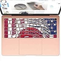 igsticker MacBook Air 13inch 2018 専用 キーボード用スキンシール キートップ ステッカー A1932 Apple マックブック エア ノートパソコン アクセサリー 保護 008108 ユニーク アメリカ 国旗 日本 指紋
