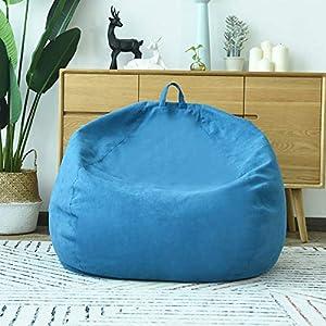 LOVEHOUGE Sitzsack, ergonomische Designmöbel Lazy Couch -mit abnehmbarem Bezug für Kinder und Erwachsene, Familie, Hotel, Outdoor,Blue,31.4x39.3inches