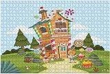 1000 Piezas-Casa de setas de hadas Ilustración 3D de madera DIY educativos para niños Regalo de descompresión para adultos Juegos creativos Juguetes Decoración-Color9