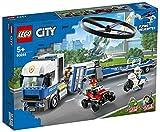 LEGO60244CityPolicía:CamióndeTransportedelHelicóptero,SetdeConstrucciónparaNiños+5años