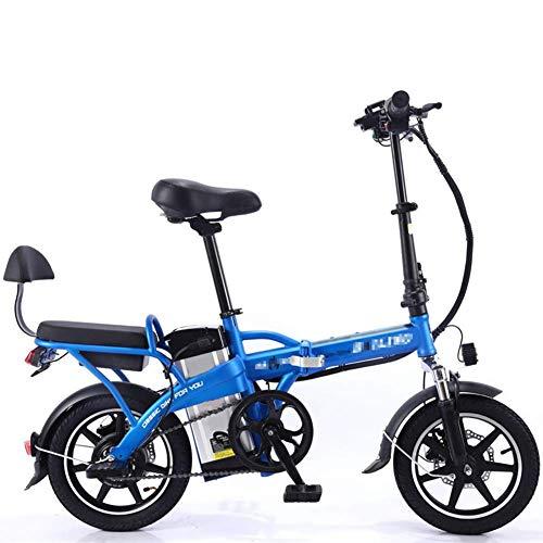 Gpzj Nueva Bicicleta eléctrica Plegable Scooter eléctrico de ciclomotor eléctrico 350W con batería de Litio extraíble de Gran Capacidad 48V8A