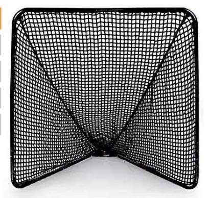 Kapler Regulation 6' x 6' Lacrosse Net with Steel Frame Portable...