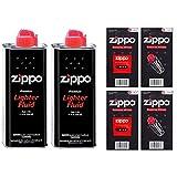 Zippo Lote de botes de gas para rellenar mecheros (2 unidades, incluye 12 sílex y 2...