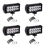 Led Light Bar,YITAMOTOR 4PCS 36W 7Inch Spot LED Work Light Pods Off Road Driving Light Fog Lights Waterproof Truck Tractor Car Boat Motorcycle 4WD ATV SUV, 2 Years Warranty