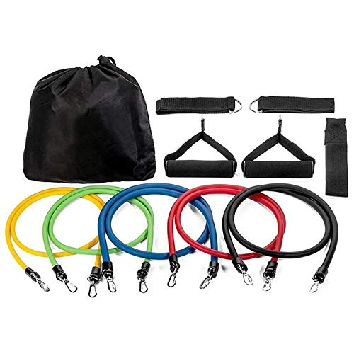 11 verstellbare Gummibänder für Fitness-Widerstandsband Muskeltraining Trainingsrohr Fitnessgeräte - 11 STK