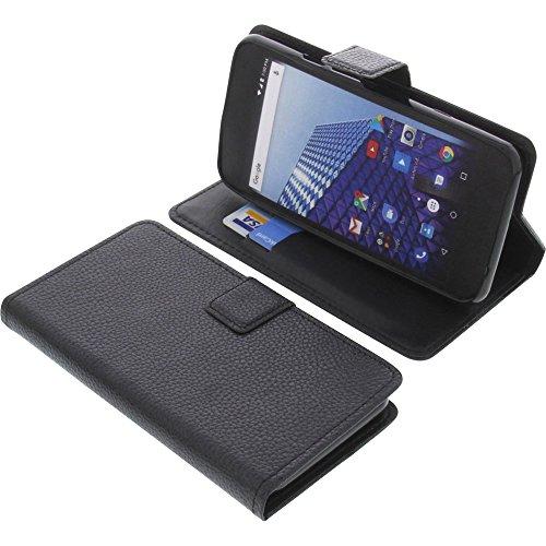foto-kontor Tasche für Archos Access 50 4G Book Style schwarz Schutz Hülle Buch