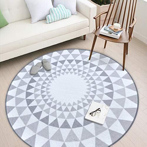 Jiamuxiangsi Vloerkleed, antislip, wasbaar, vloerbescherming, bureaustoel, mat voor thuis, bureaustoelen, rond, kinderkruipdeken, tapijten en pads