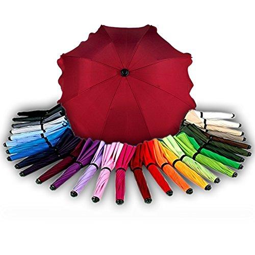 BAMBINIWELT Sonnenschirm für Kinderwagen Ø68cm UV-Schutz50+ Schirm Sonnensegel Sonnenschutz (Bordorot)