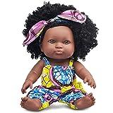 Nice2you Schwarze Mädchen Puppe African American Spielen Puppe 12 Zoll Mode Baby Reborn Puppe