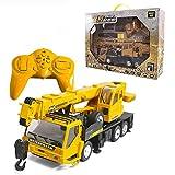 XIAOKUKU Fernbedienung Baukran, 1/24 Fernbedienung Spielzeug Kran Engineering Truck 2.4g...
